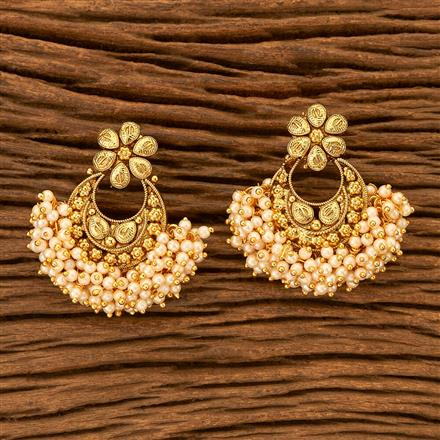 201061 Antique Chand Earring with gold plating