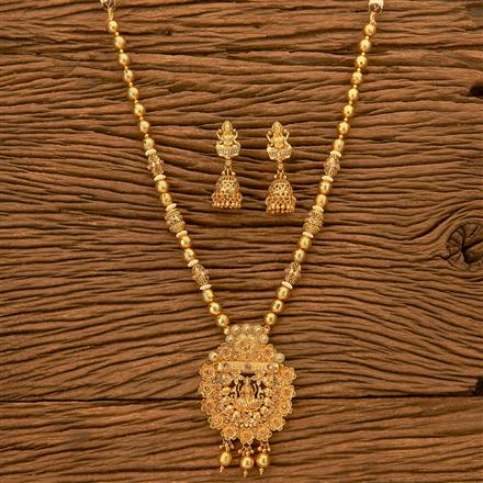 201084 Antique South Indian Pendant Set With Gold Plating