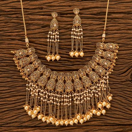 201113 Antique Classic Necklace with gold plating