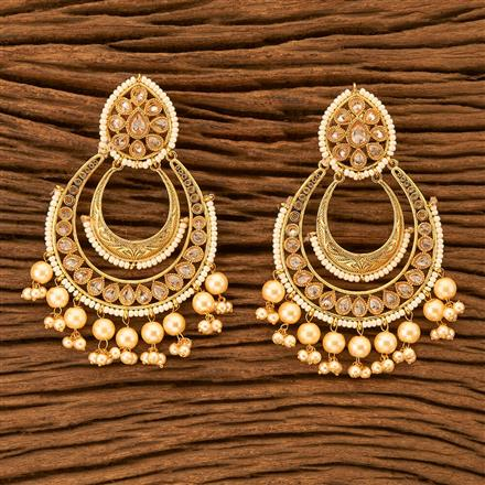 201114 Antique Chand Earring with gold plating