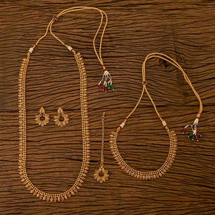 201119 Antique Combo Necklace sets with gold plating