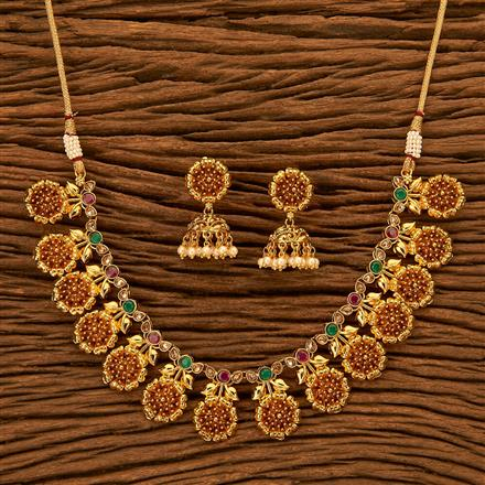 201148 Antique Classic Necklace with gold plating