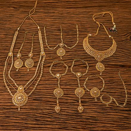 201197 Antique Bridal sets with gold plating
