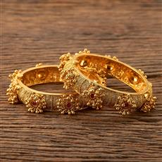 201228 Antique Openable Bangles with gold plating