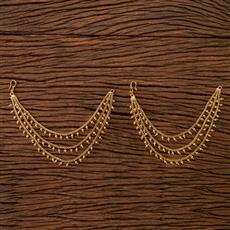 201230 Antique Plain Ear Chain with gold plating