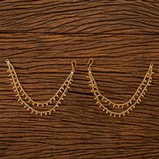 201231 Antique Plain Ear Chain with gold plating