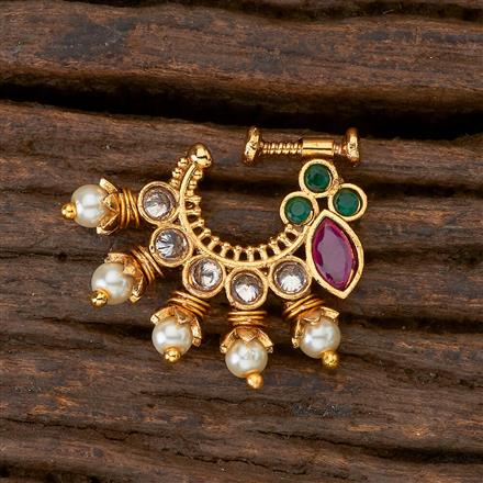 201404 Antique Classic Nose Ring with gold plating