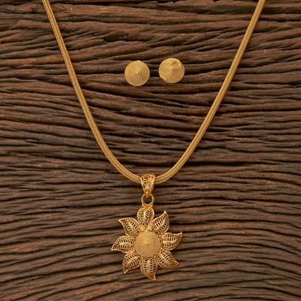 201518 Antique Plain Pendant set with gold plating