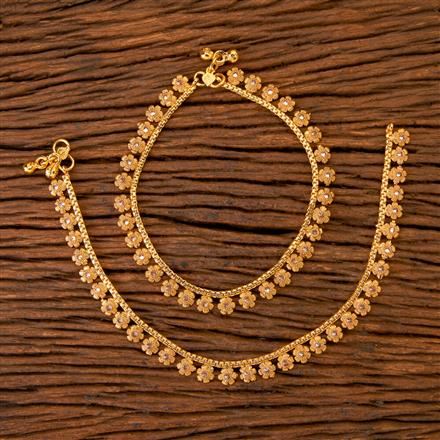 201577 Antique Classic Payal with gold plating