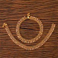 201579 Antique Classic Payal with gold plating