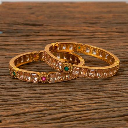 201580 Antique Classic Bangles with gold plating