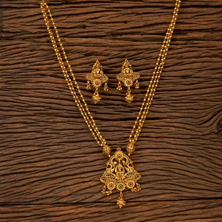 201666 Antique Temple Pendant set with gold plating