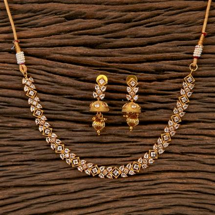 201670 Antique Delicate Necklace with gold plating