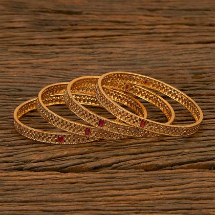 201748 Antique Classic Bangles with gold plating