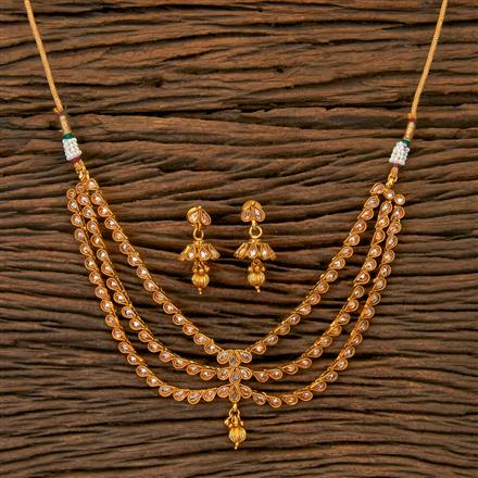 201761 Antique Classic Necklace With Gold Plating