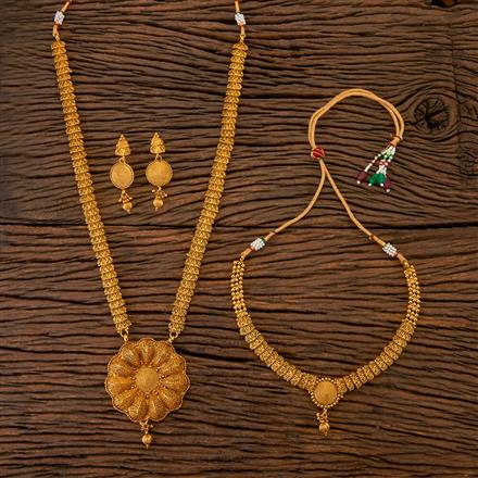 201764 Antique Combo Necklace Sets With Gold Plating