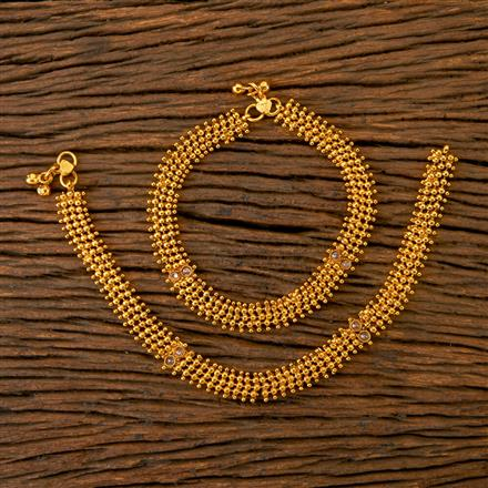201766 Antique Classic Payal With Gold Plating