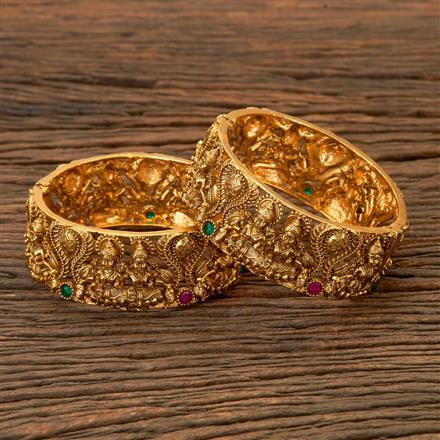 201767 Antique Temple Bangles With Gold Plating