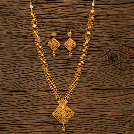 201786 Antique Long Necklace With Gold Plating