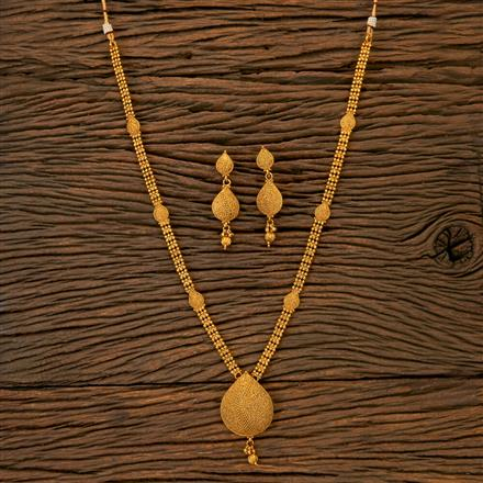 201787 Antique Long Necklace With Gold Plating