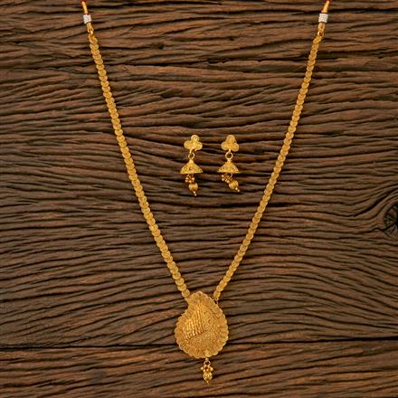 201788 Antique Long Necklace With Gold Plating