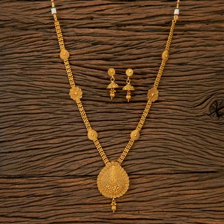 201789 Antique Long Necklace With Gold Plating