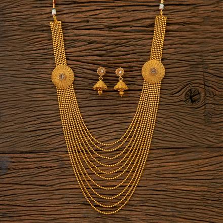 201790 Antique Long Necklace With Gold Plating