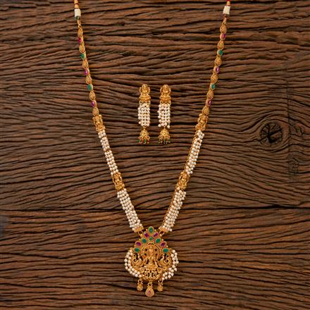 201801 Antique South Indian Necklace With Gold Plating