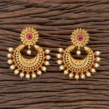 201802 Antique Chand Earring With Gold Plating