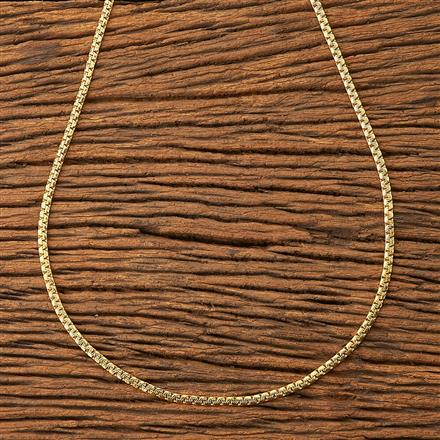 20180 Antique Plain Chain with gold plating