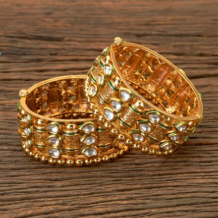 201823 Antique Openable Bangles With Gold Plating