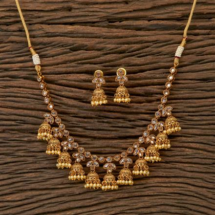 201829 Antique Classic Necklace With Gold Plating