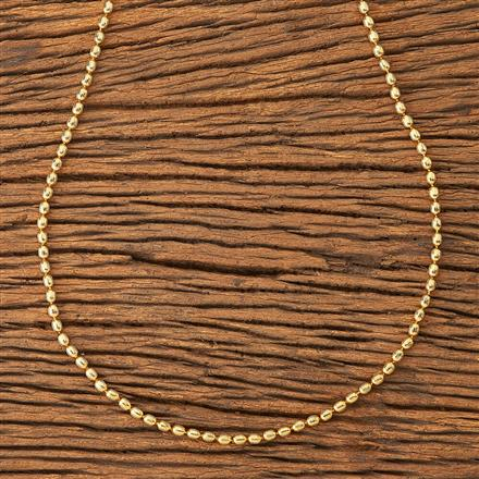 20185 Antique Plain Chain with gold plating