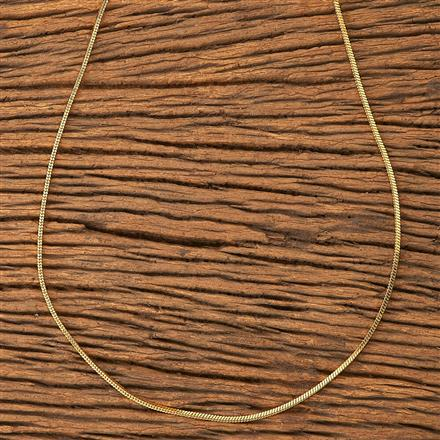 20186 Antique Plain Chain with gold plating
