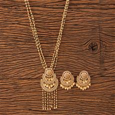 20191 Antique Mala Pendant set with gold plating