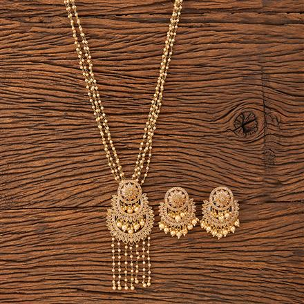 20191 Antique Mala Pendant set with gold plating