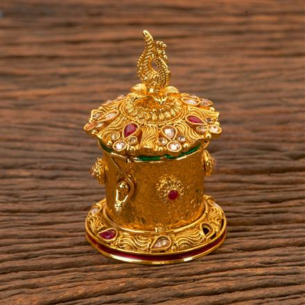 201920 Antique Classic Sindoor Box With Gold Plating