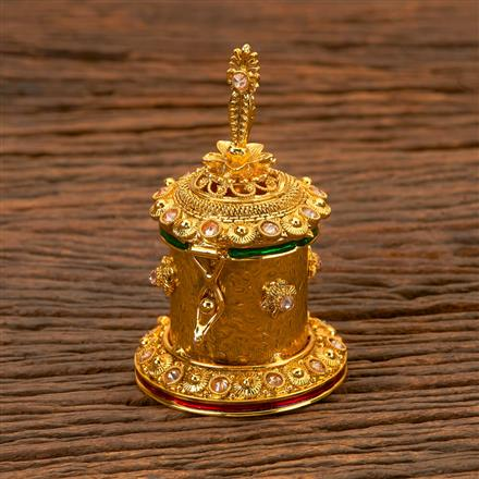 201922 Antique Classic Sindoor Box With Gold Plating