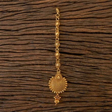 202107 Antique Delicate Tikka With Gold Plating