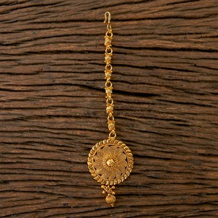 202114 Antique Delicate Tikka With Gold Plating