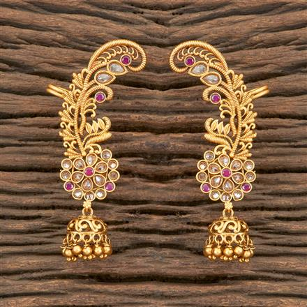 202125 Antique Earcuffs With Matte Gold Plating