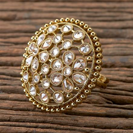 202132 Antique Classic Ring With Mehndi Plating