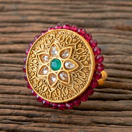 202165 Antique Classic Ring With Matte Gold Plating
