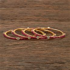 202170 Antique Delicate Bangles With Gold Plating