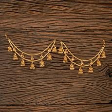 202191 Antique Classic Ear Chain With Gold Plating
