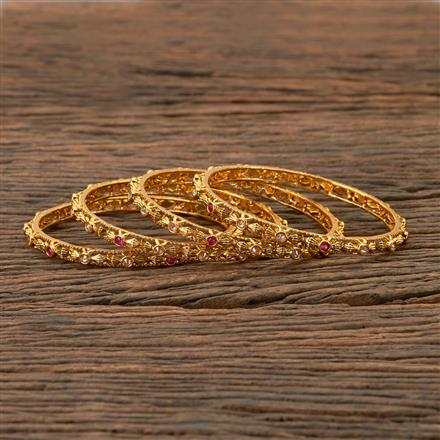 202217 Antique Delicate Bangles with Gold Plating