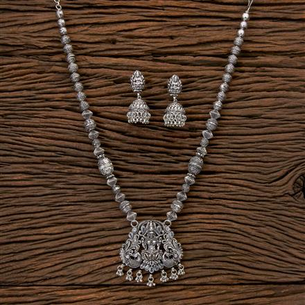 202248 Antique Mala Pendant set with Oxidised Plating