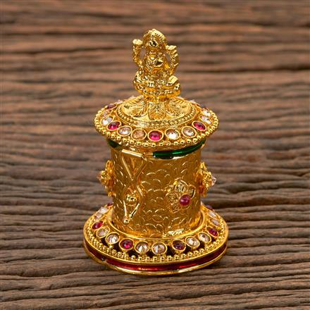 202257 Antique Classic Sindoor Box with Gold Plating