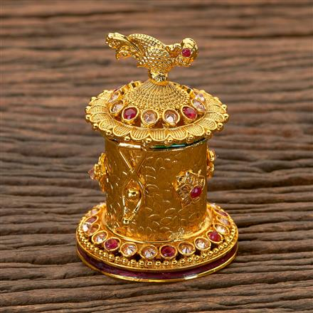 202259 Antique Classic Sindoor Box with Gold Plating