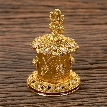 202260 Antique Classic Sindoor Box with Gold Plating